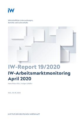 IW-Arbeitsmarktmonitoring April 2020