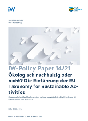 The introduction of the EU Taxonomy for Sustainable Activities
