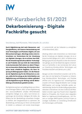 Dekarbonisierung - Digitale Fachkräfte gesucht