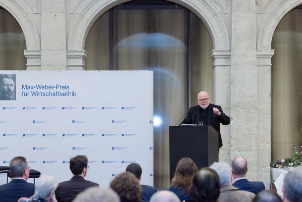 Kardinal Reinhard Marx hielt den Festvortrag. Er sprach über Gesinnungs- und Verantwortungsethik. Foto: Kerstin Müller